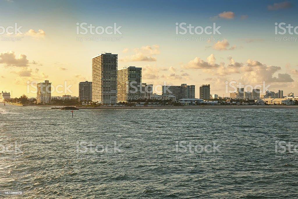 Fort Lauderdale Beach, Florida royalty-free stock photo