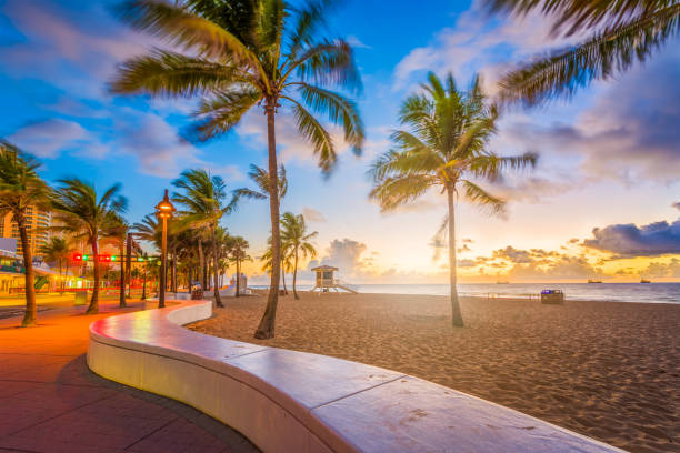 fort lauderdale beach florida - south stock photos and pictures