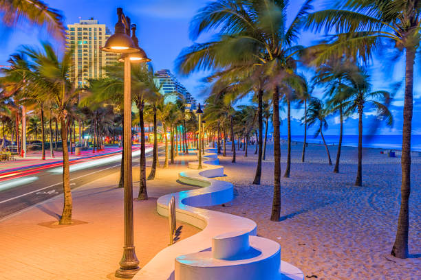 fort lauderdale beach florida - miami stock photos and pictures