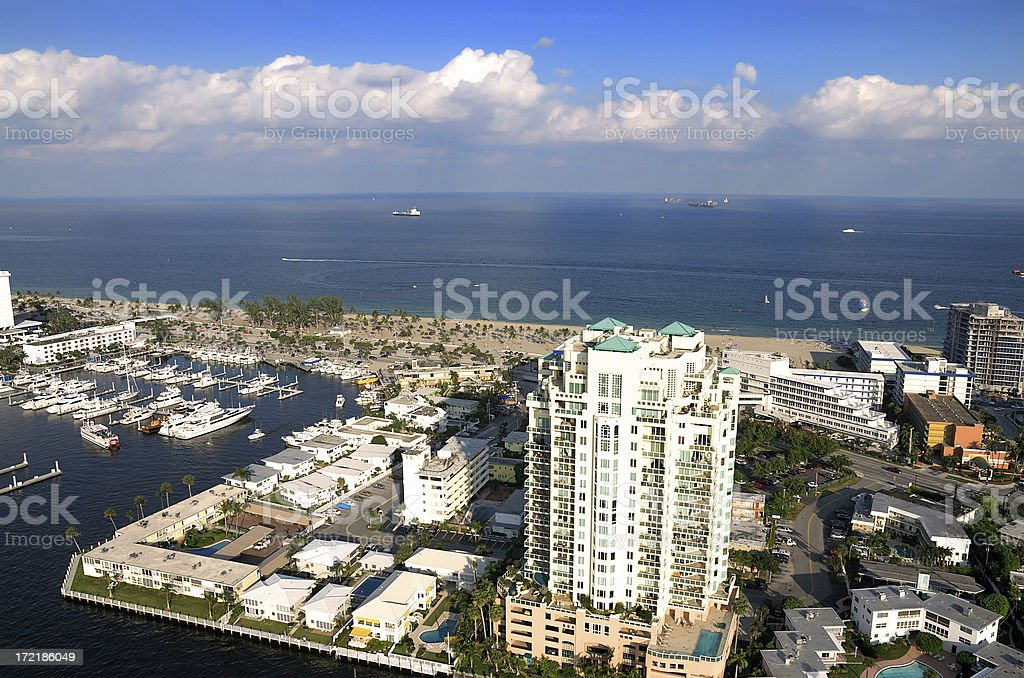 fort lauderdale beach royalty-free stock photo
