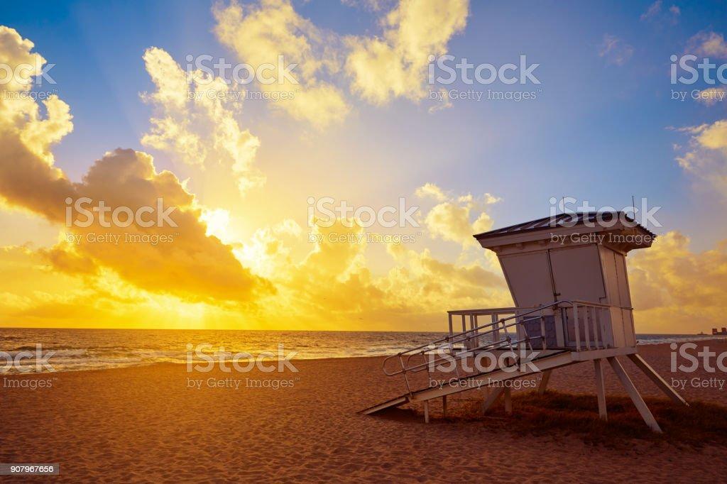 Fort Lauderdale beach sunrise Florida US stock photo