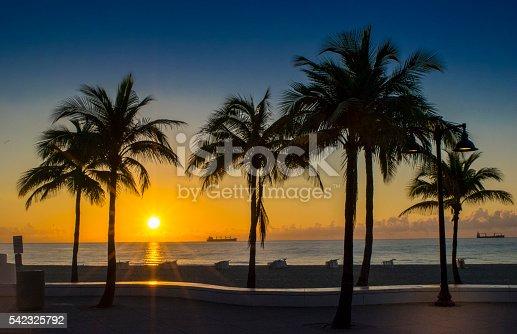 Sunrise on Fort Lauderdale Beach.