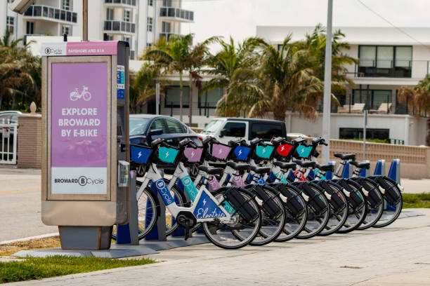 Fort Lauderdale Bicycle Rental stock photo