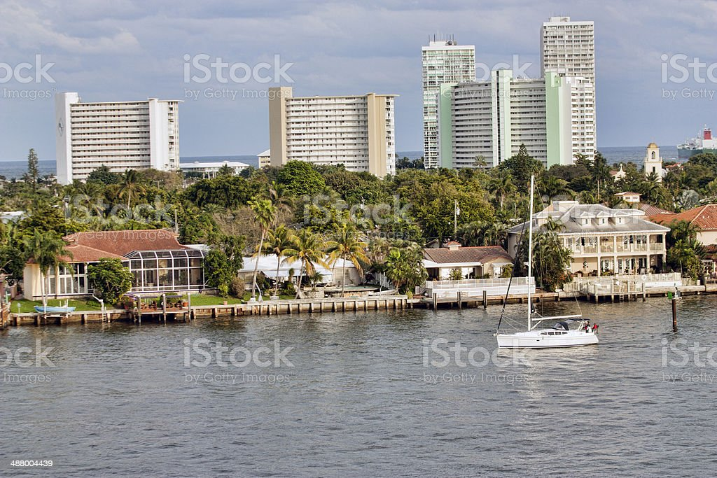 Fort Lauderdale Cityscape stock photo