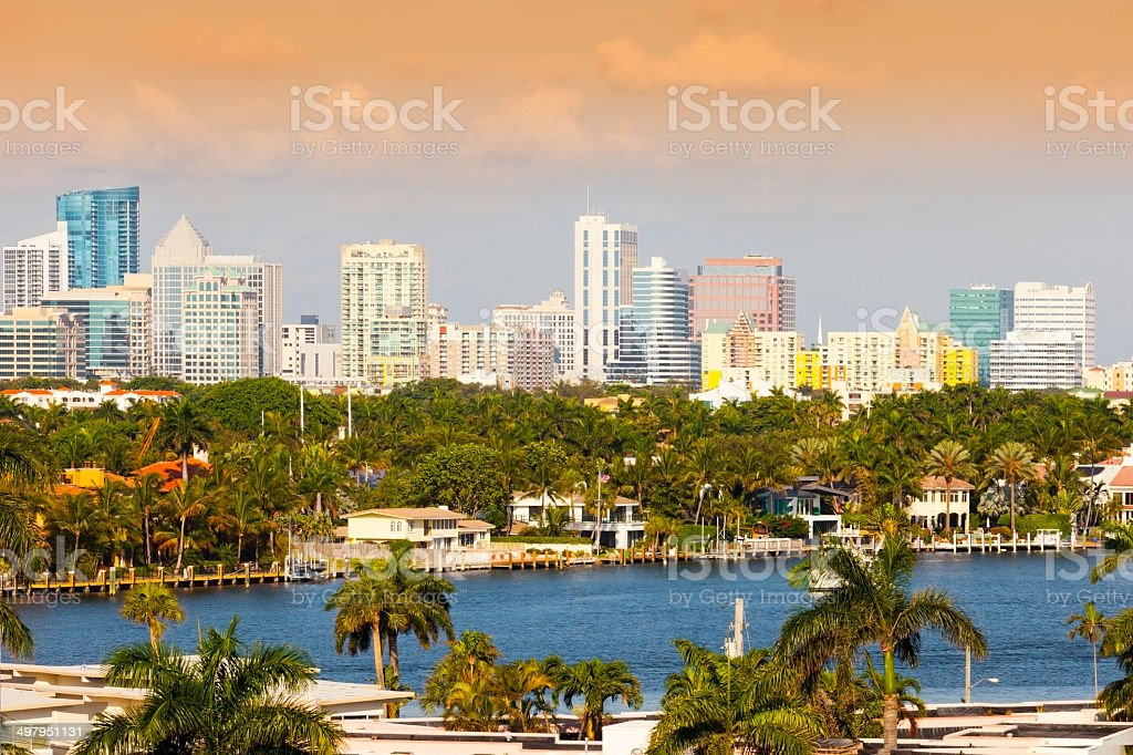 Fort Lauderdale- Financial District stock photo