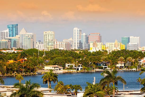 Fort Lauderdale- Quartiere finanziario - foto stock