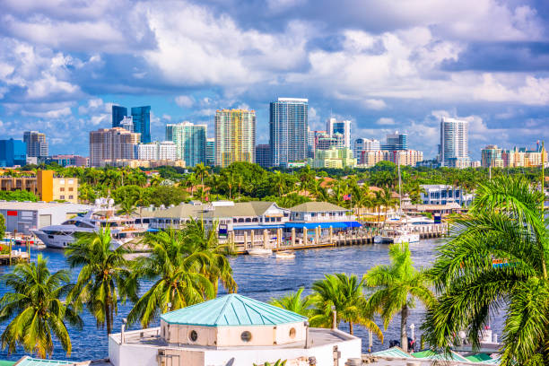 fort lauderdale florida zskyline - south stock photos and pictures