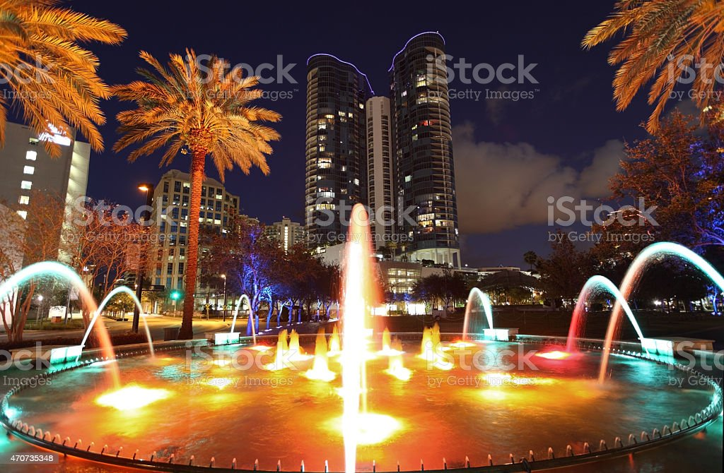 Fort Lauderdale Fountain stock photo