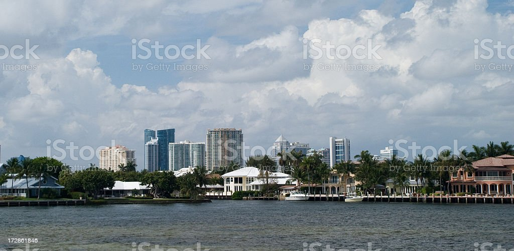 Fort Lauderdale from the Intracostal royalty-free stock photo