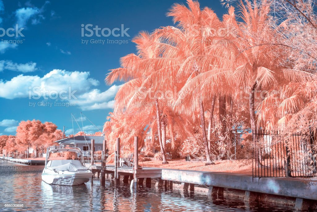 Fort Lauderdale Intracoastal in Infrared stock photo