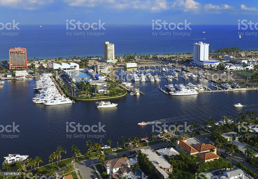 Fort Lauderdale Intracoastal stock photo