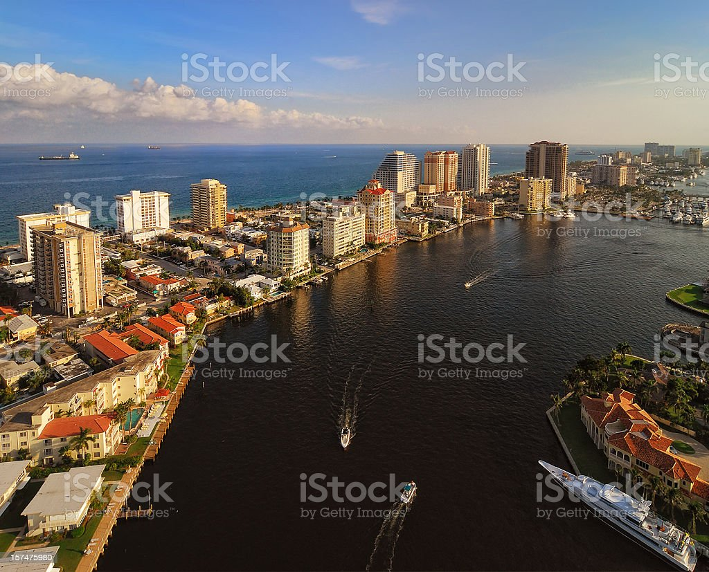 Fort Lauderdale Intracoastal royalty-free stock photo