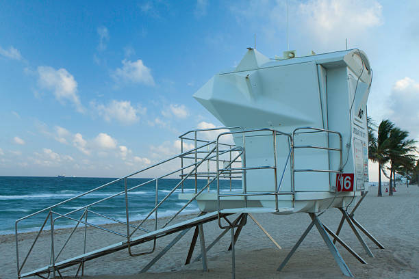 Fort Lauderdale Lifeguard Stand #16 stock photo