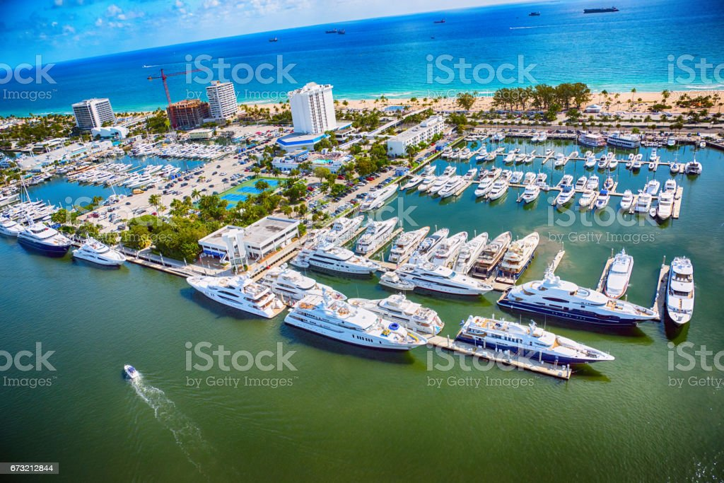 Fort Lauderdale Marina From Above stock photo