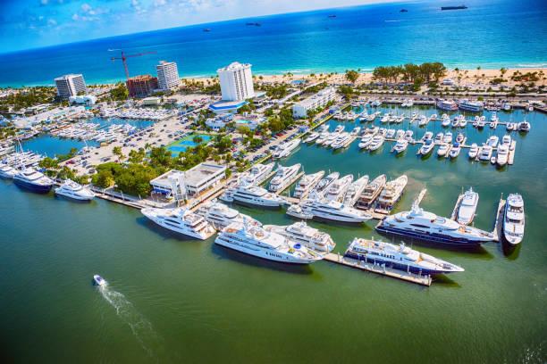 Fort Lauderdale Marina de cima - foto de acervo