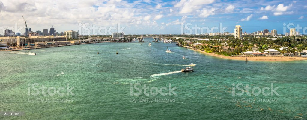 Fort Lauderdale Port Everglades stock photo