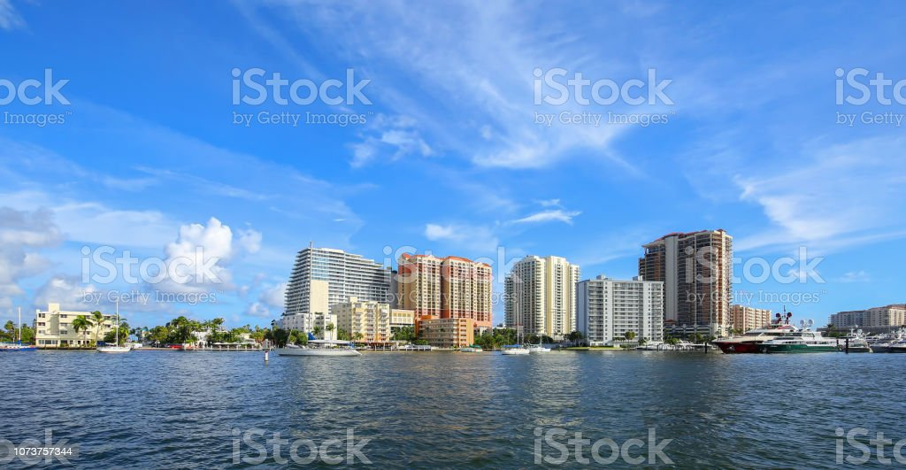 Fort Lauderdale Skyline stock photo