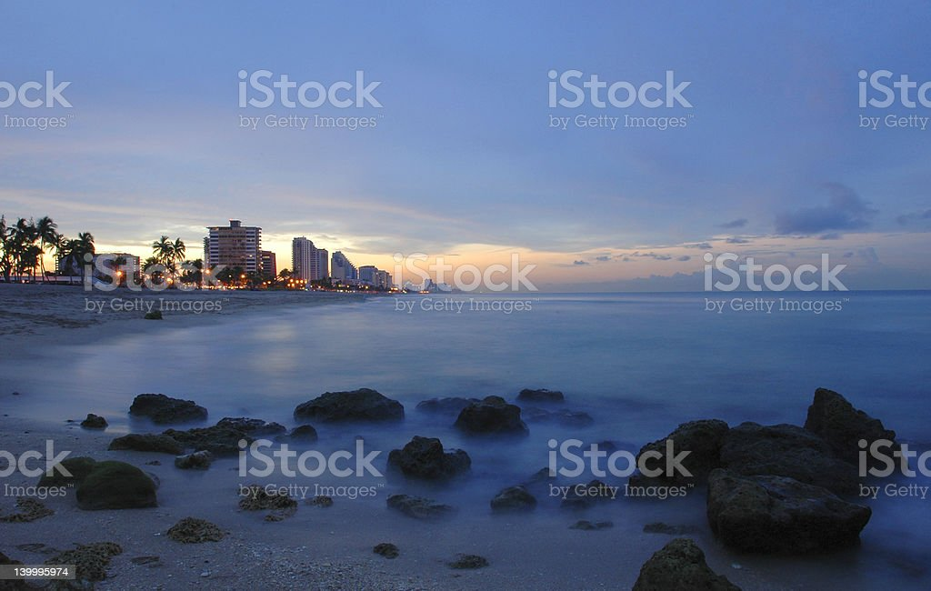 Fort Lauderdale sunset royalty-free stock photo
