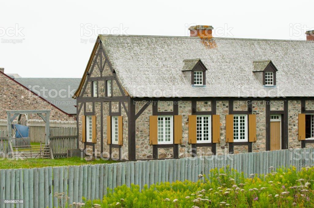 Fort Louisbourg - Nova Scotia - Canada stock photo