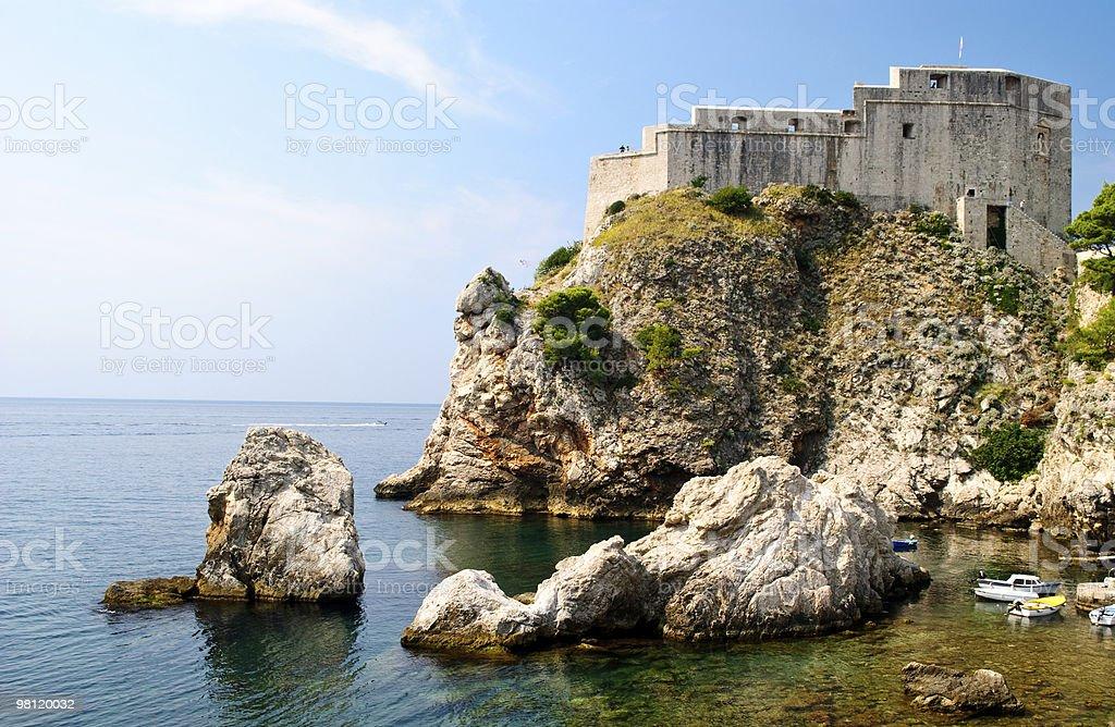 Fort Lovrijenac di Dubrovnik foto stock royalty-free