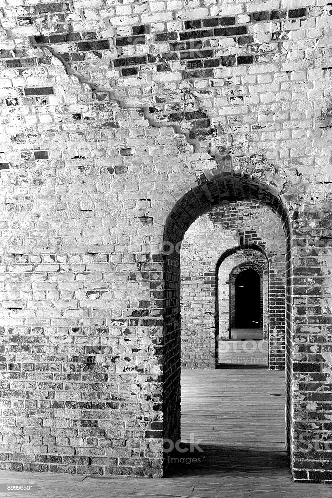 Fort Macon Archway stock photo