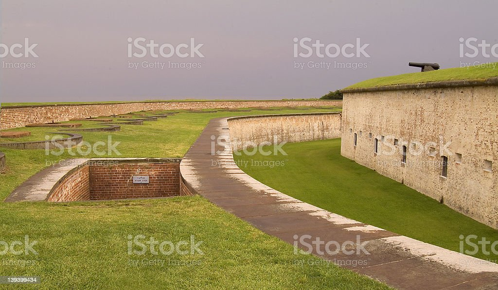 Fort Macon stock photo