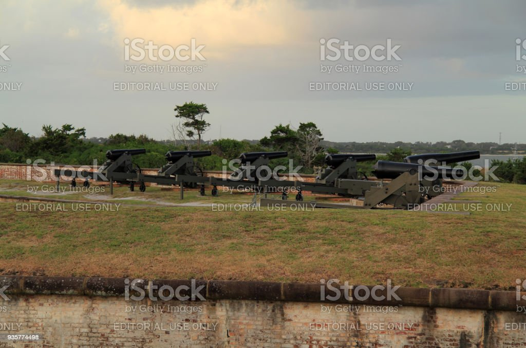Fort Macon State Park stock photo