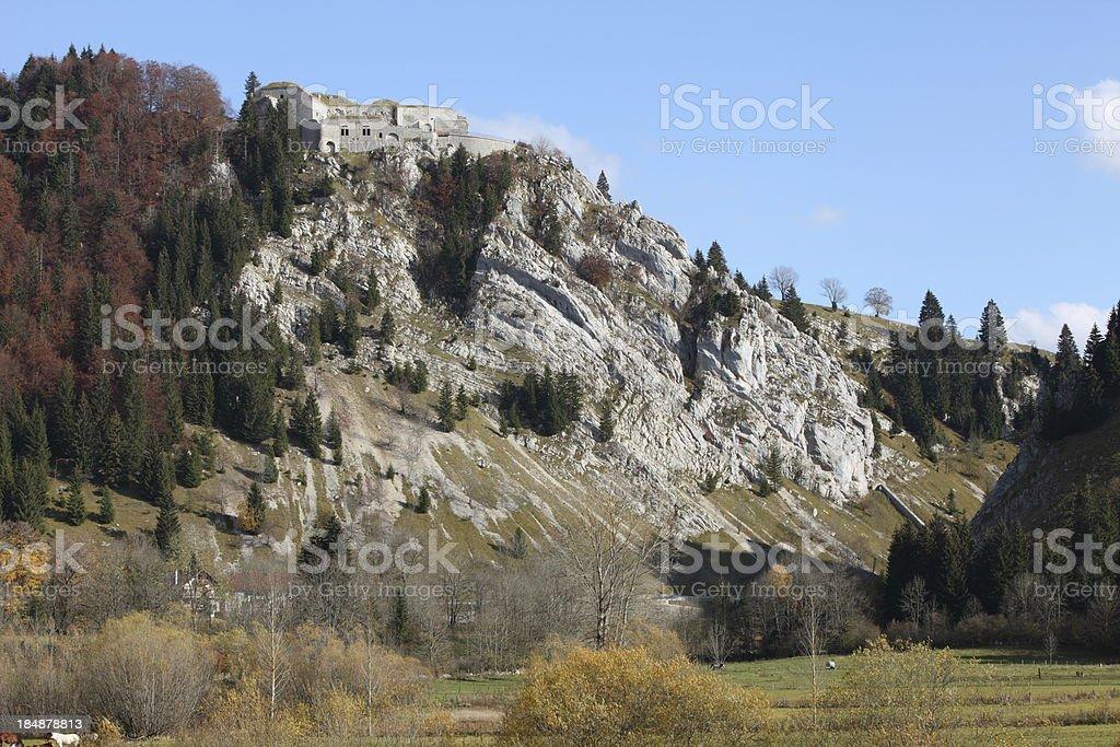 Fort Mahler in La Cluse-et-Mijoux, France stock photo