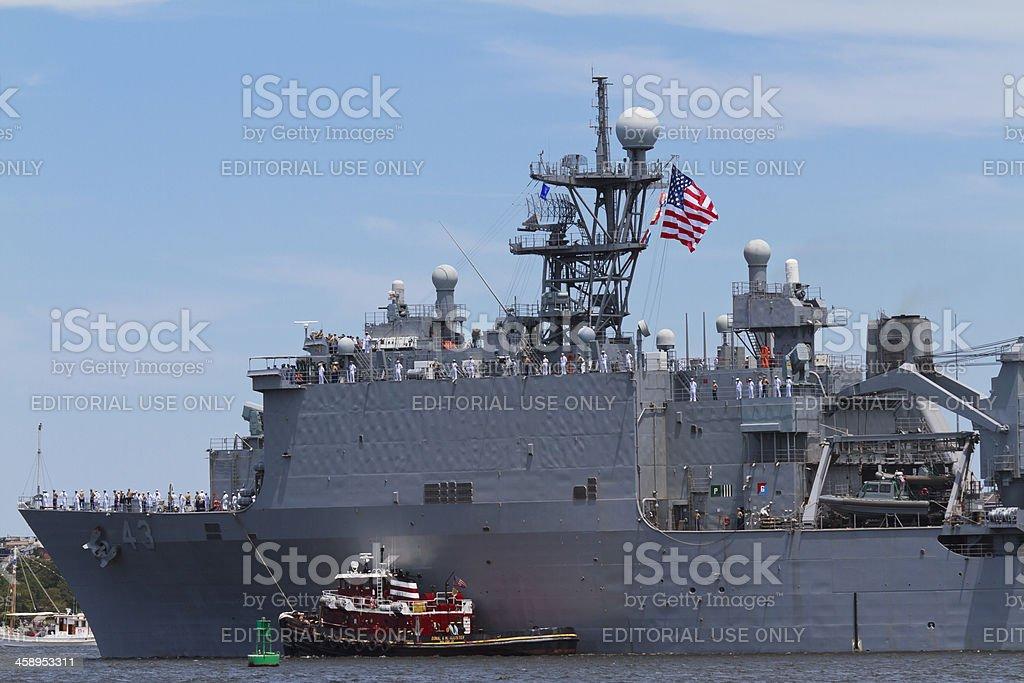 USS Fort McHenry Dock Landing Ship stock photo