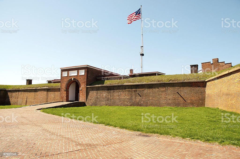 Fort McHenry National Monument and Historic Shrine royalty-free stock photo