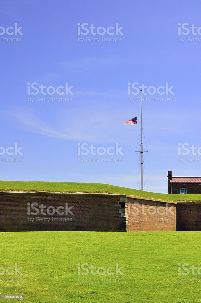 Fort mcHenry Rampart stock photo