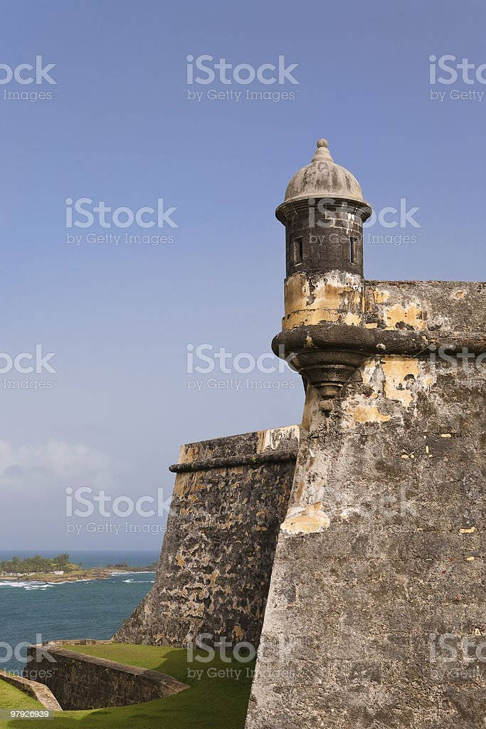 Fort Morro in Old San Juan, Puerto Rico royalty-free stock photo