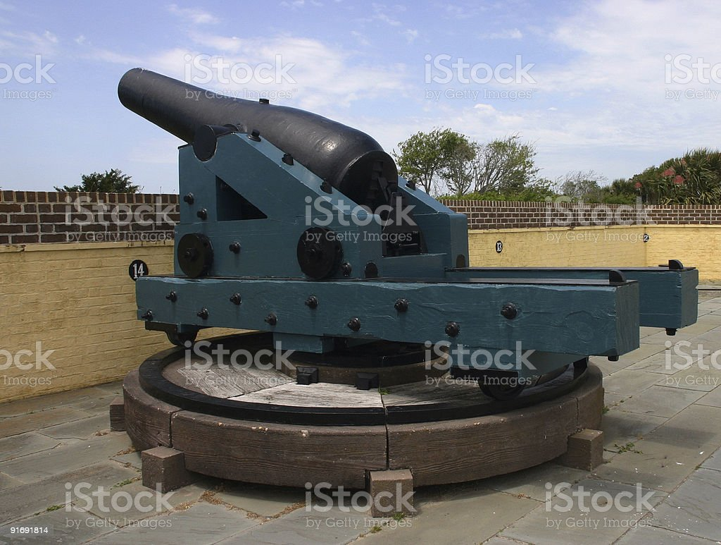 Fort Moultrie battery.jpg stock photo