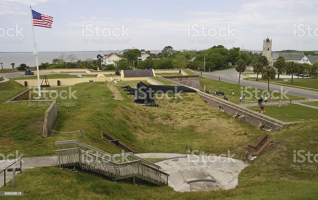Fort Moultrie Paisagem foto de stock royalty-free