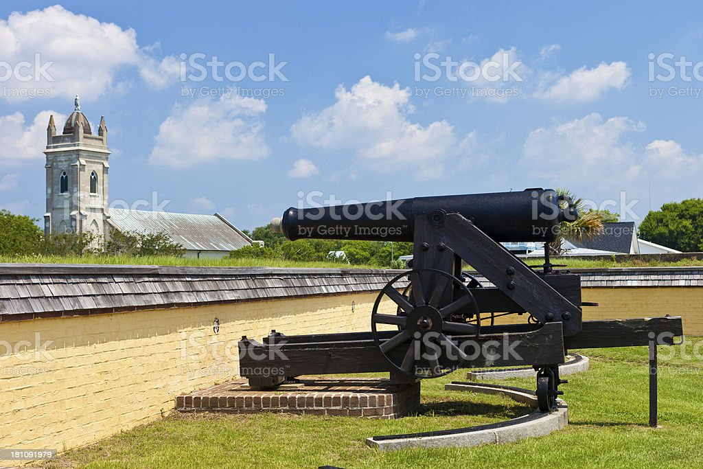 Fort Moultrie Near Charleston, South Carolina royalty-free stock photo
