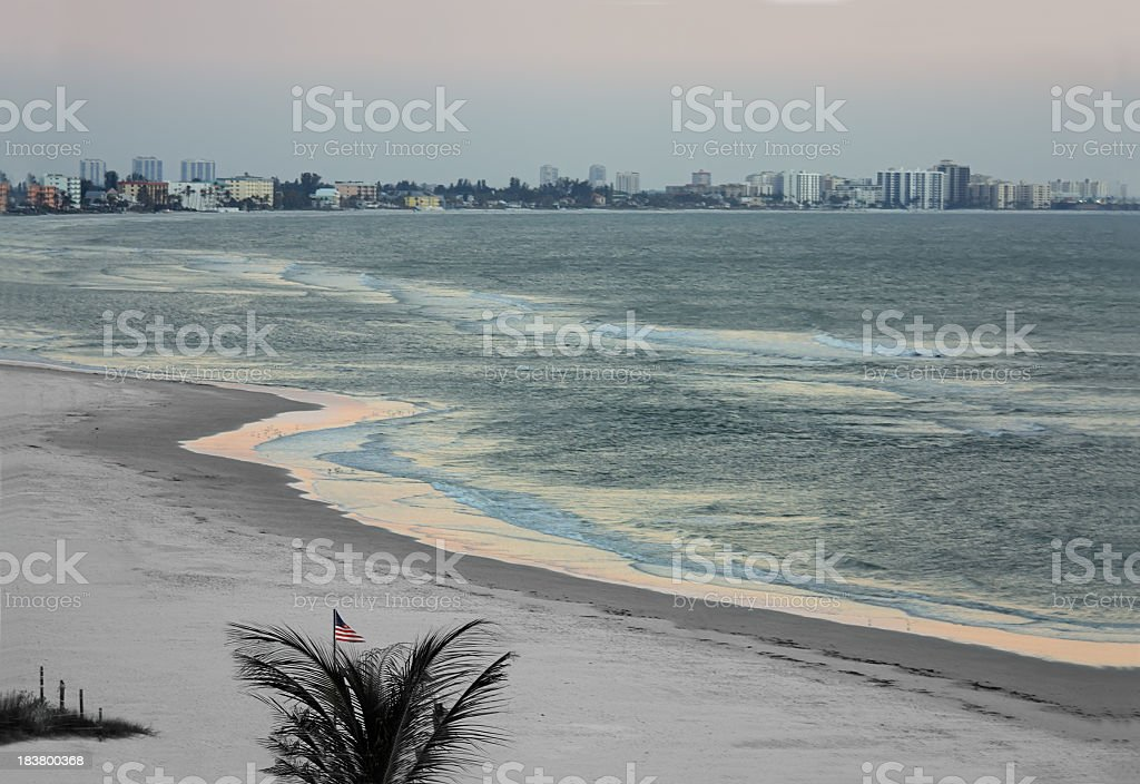 Fort Myers Beach after Sunset stock photo