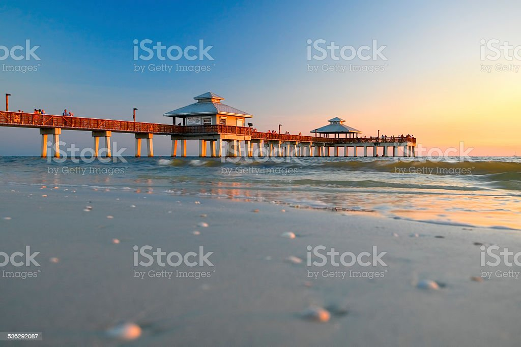 Fort Myers Beach Fishing Pier 10 stock photo