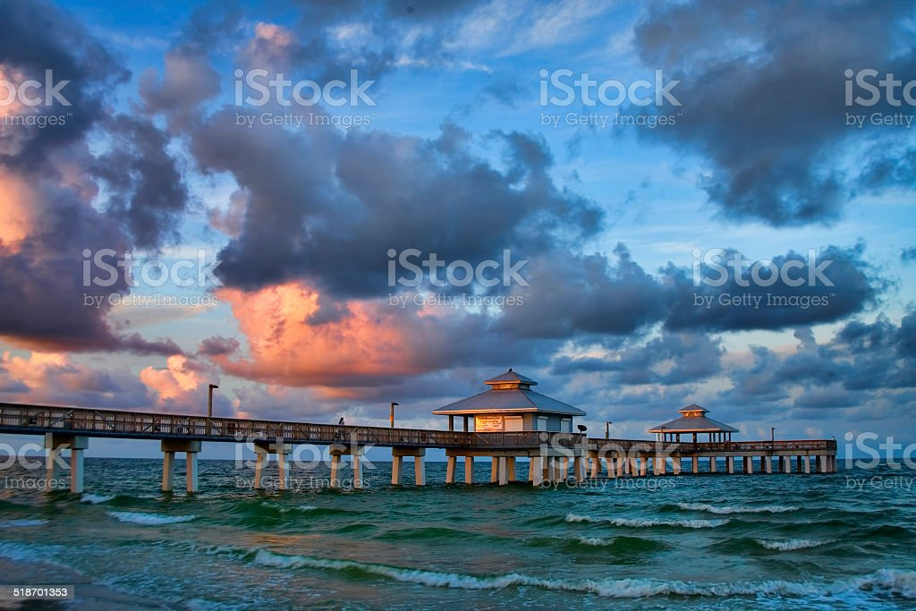 Fort Myers Beach Fishing Pier 4 stock photo