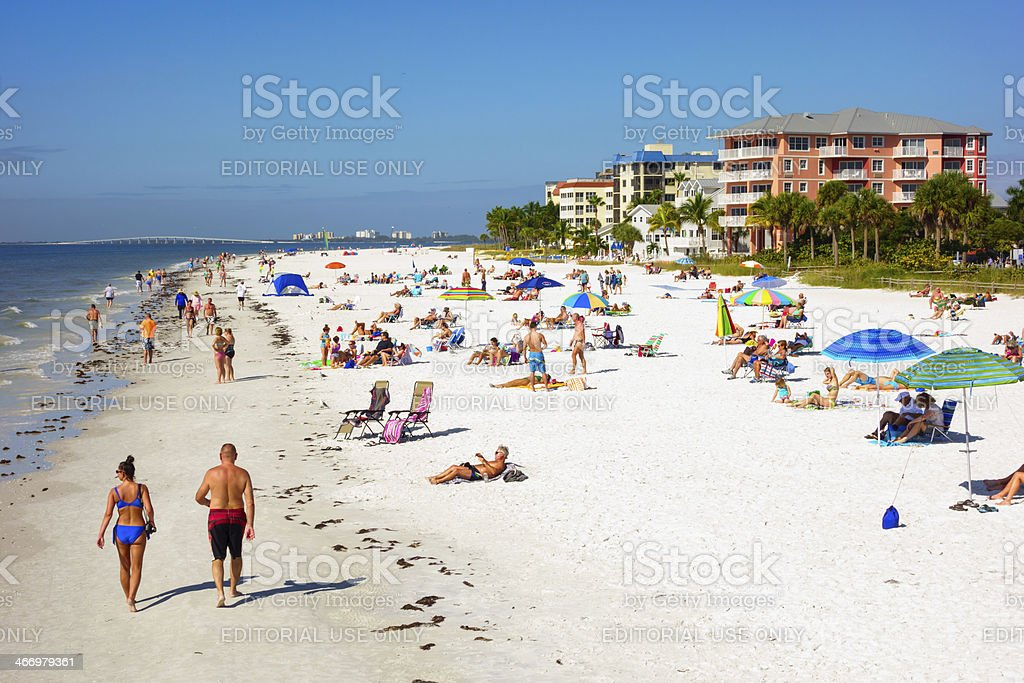 Fort Myers Beach, Florida stock photo