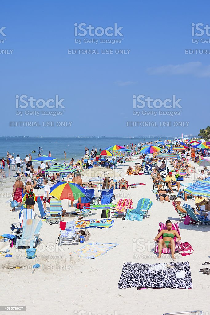 Fort Myers Beach, Florida, USA stock photo