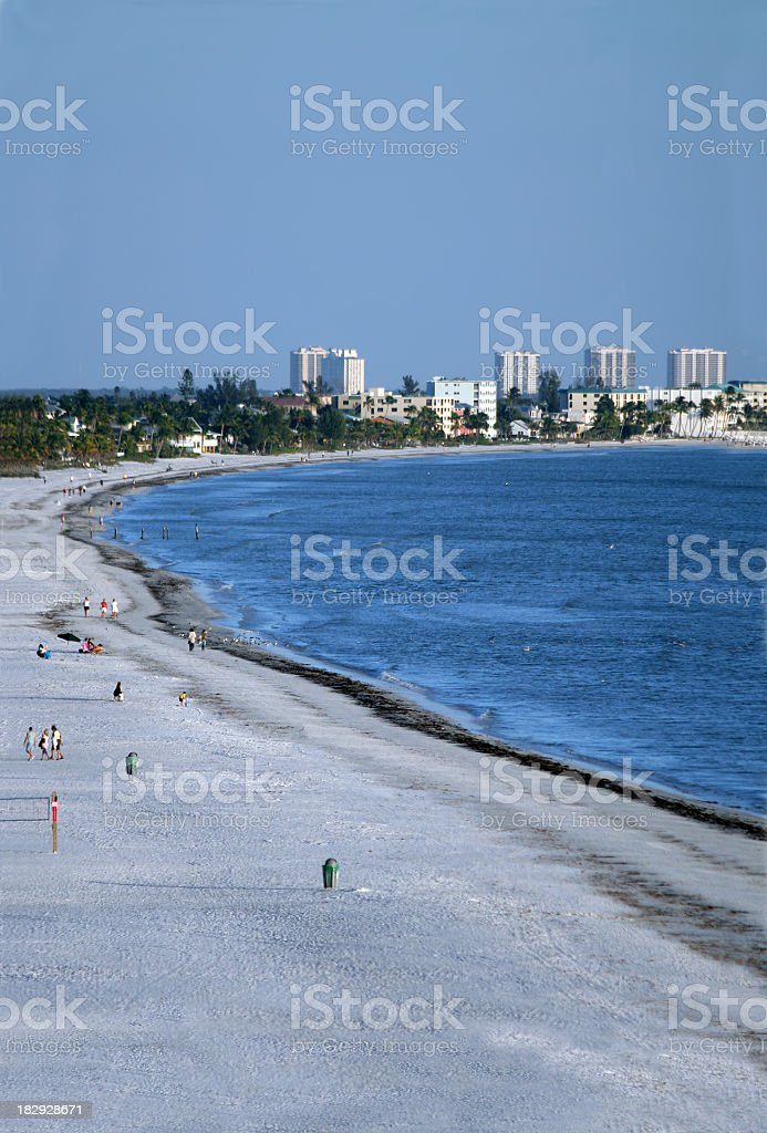 Fort Myers Beach in Early Evening stock photo