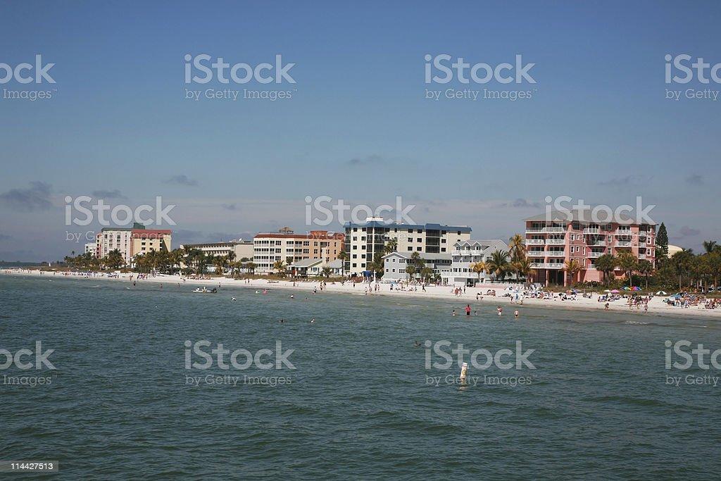 Fort Myers beach stock photo