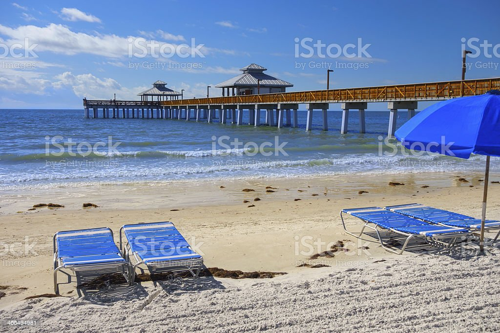 Fort Myers Beach Pier, Florida stock photo