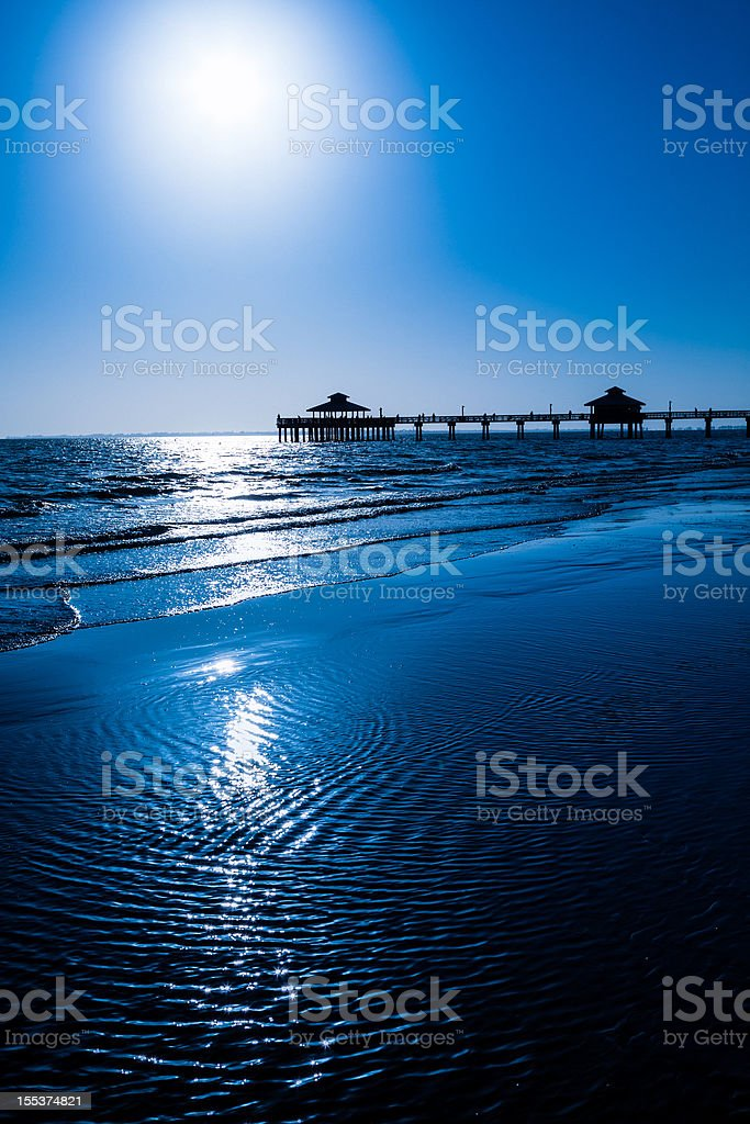 Fort Myers Beach Pier royalty-free stock photo