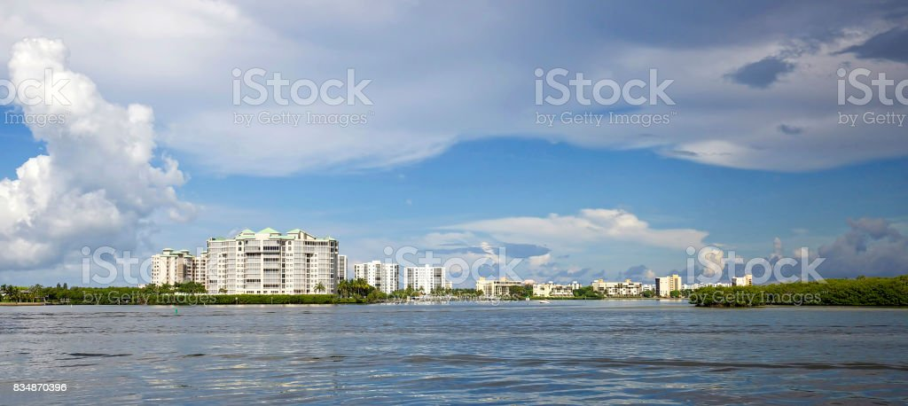 Fort Myers Beach skyline stock photo
