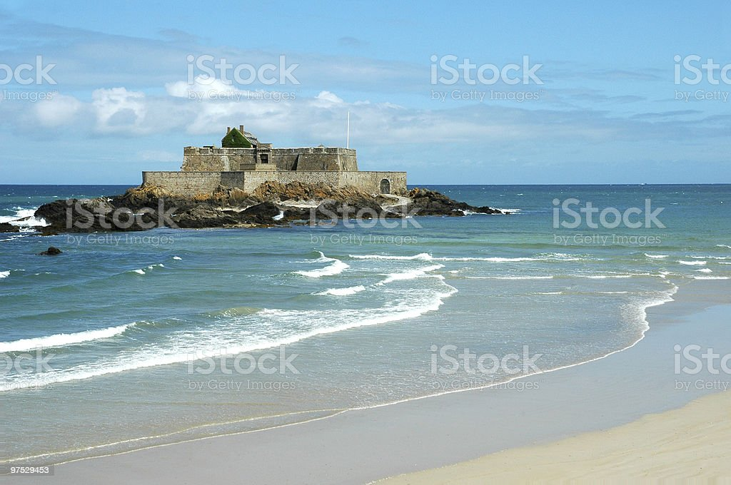 Fort National in Saint Malo (France) royalty-free stock photo