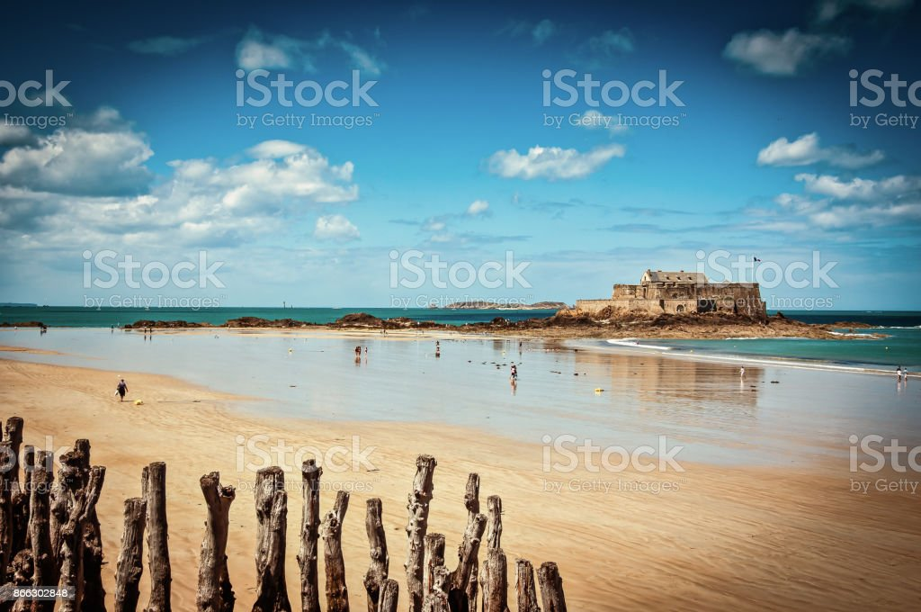 Fort National - Saint Malo stock photo