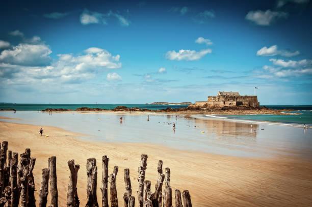 Fort National - Saint Malo stock photo
