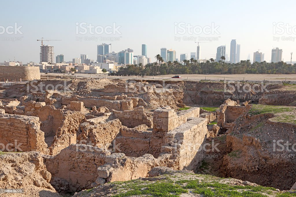 Fort of Bahrain, Middle East stock photo