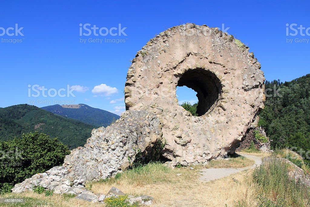 Fort of Engelbourg in Alsace stock photo